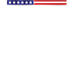 usa flag frame ribbon design template vector image