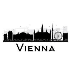 Vienna City skyline black and white silhouette vector