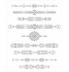 vintage tribal elements vector image
