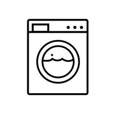 Washing machine line icon appliances symbol flat vector