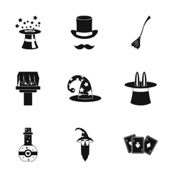 Witchcraft icons set simple style vector