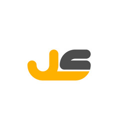 Yellow grey combination logo letter js j s vector