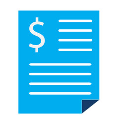 bank statement sign bank statement icon on white vector image vector image