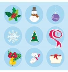 Christmas Winter Symbols Pattern Holiday Mood vector image