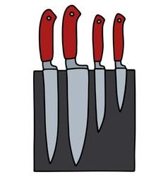 Set of kitchen knives vector