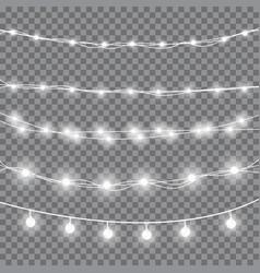christmas white lights vector image