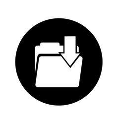 Folder download isolated icon vector