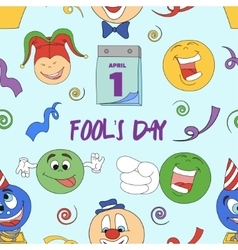 Fools day pattern- 1 April vector image vector image
