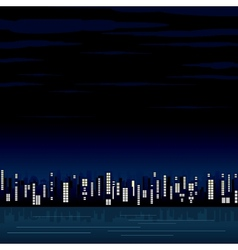 Night View of the Modern City Image vector image