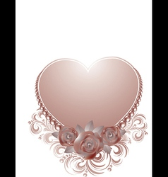Beautiful valentine card vector image vector image