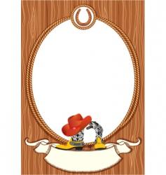 cowboy rope frame vector image