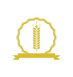 Ears wheat logo or emblem mockup concept organic vector image