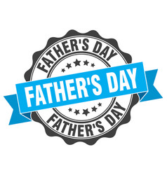 fathers day stamp sign seal vector image vector image