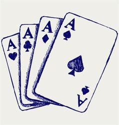 Gambling sketch vector