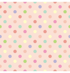 Polka dots seamless pink background or pattern vector image