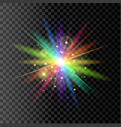 rainbow glowing light vector image
