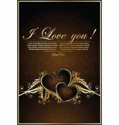 romantic background with hearts vector image vector image
