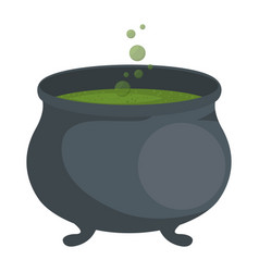 witch boiler isolated icon vector image vector image