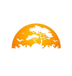 africa tree forest abstract logo vector image vector image