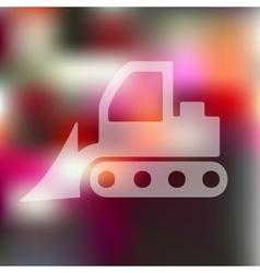 bulldozer icon on blurred background vector image