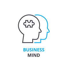 business mind concept outline icon linear sign vector image