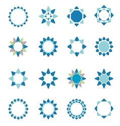 Geometric logo template set vector image