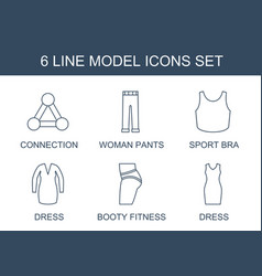 6 model icons vector