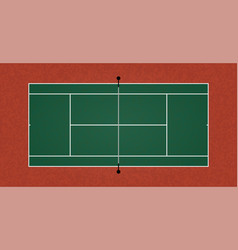a textured realistic tennis court eps 10 vector image