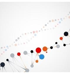 Abstract DNA futuristic molecule vector image