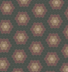Abstract geometric tiles pattern background vector