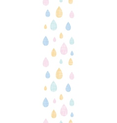 Abstract textile colorful rain drops vertical vector image