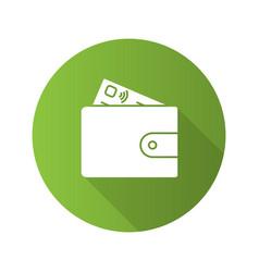 Account balance flat design long shadow glyph icon vector