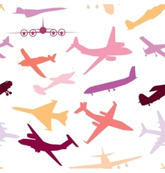 Aircraft airplane plane flying seamless travel vector image