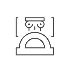 architecture sketch line outline icon vector image