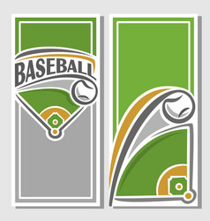 banner baseball diamond vector image