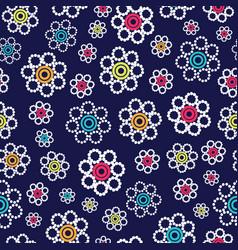 beautiful bright geometric flowers seamless vector image