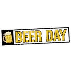 beer day sign or stamp vector image