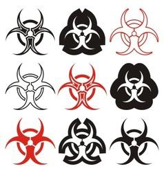 Biohazard symbols vector
