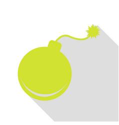 bomb sign pear icon with flat style vector image