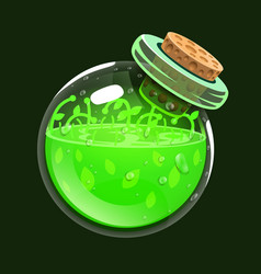 bottle of life game icon of magic elixir vector image