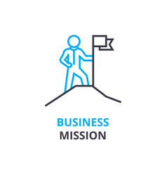 Business mission concept outline icon linear vector