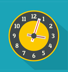 clock concept icon flat style vector image