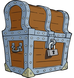 closed chest vector image