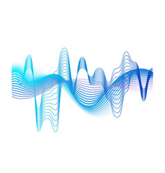 Colorful realistic sound waves amplitude vector