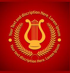 concept of philharmonic logo vector image