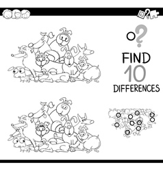 differences game with dogs vector image