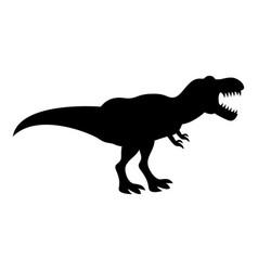 Dinosaur tyrannosaurus t rex icon black color vector