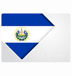 El salvador flag design background vector
