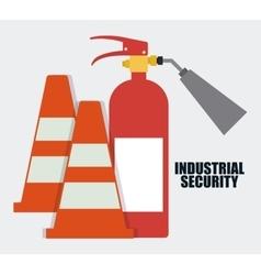 Extinguisher cone iconIndustrial graphic vector