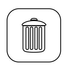 figure symbol can trash icon vector image